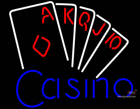 Casino Poker Hand Neon Sign