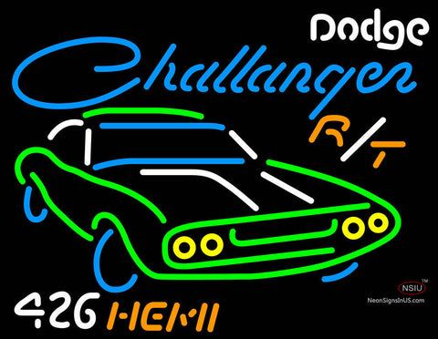 Challenger Dodge  Hemi Neon Sign