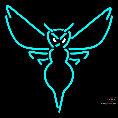 Charlotte Hornets Alternate   Pres Logo NBA Neon Sign