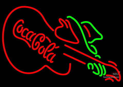 Coca Cola With Guitar Neon Sign