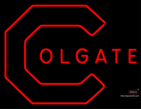 Colgate Raiders Primary  7 Logo NCAA Neon Sign