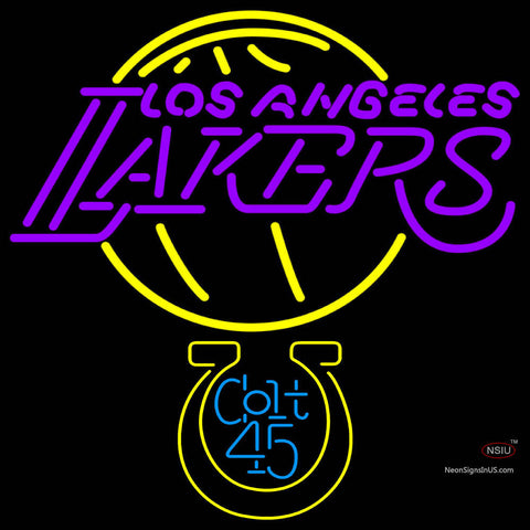 Colt  Los Angeles Lakers NBA Neon Beer Sign