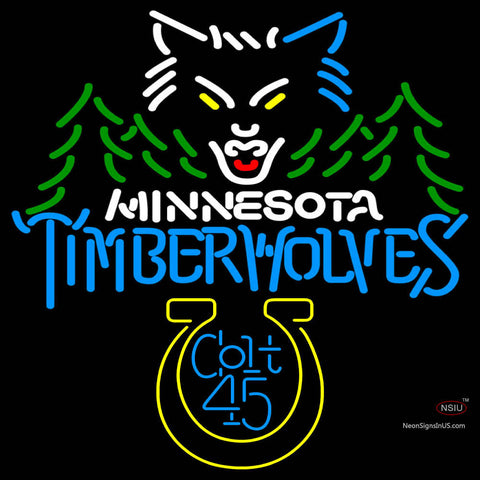 Colt  Minnesota Timber Wolves NBA Neon Beer Sign
