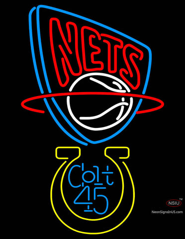 Colt  New Jersey Nets NBA Neon Beer Sign