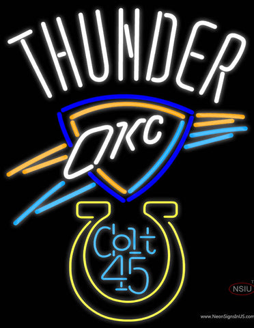 Colt  Oklahoma City Thunder Neon Beer Sign