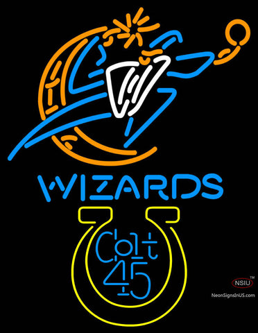 Colt  Washington Wizards NBA Neon Beer Sign