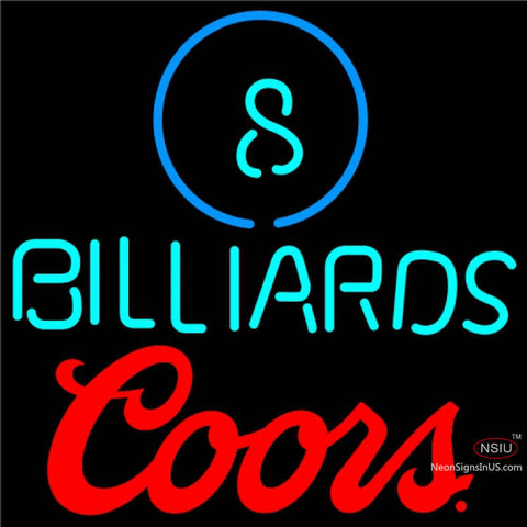 Coors Ball Billiards Pool Neon Beer Sign   x