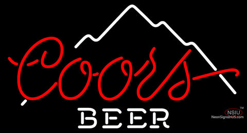 Coors Beer Mountain Neon Beer Sign