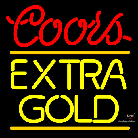 Coors Extra Gold Neon Beer Sign x