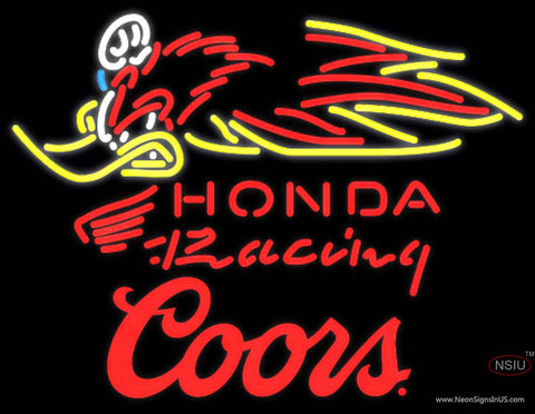 Coors Honda Racing Woody Woodpecker Crf   Motorcycle Neon sign