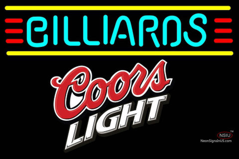 Coors Light Billiards Text Borders Pool Neon Beer Sign
