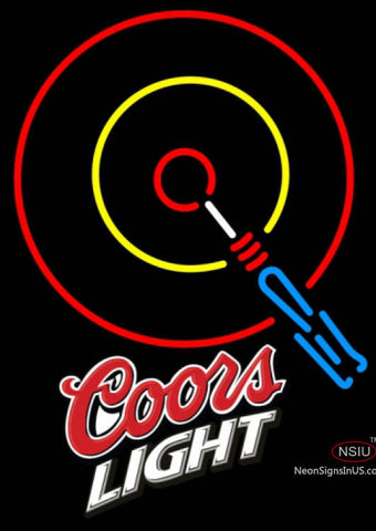 Coors Light Darts Neon Sign