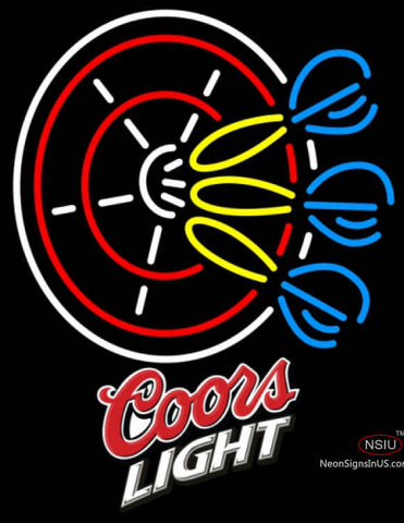 Coors Light Darts Pin Neon Sign