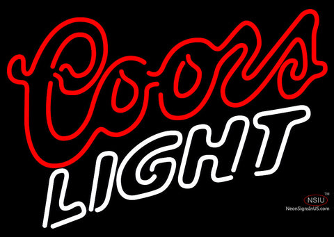 Coors Light Double Stroke Neon Beer Sign