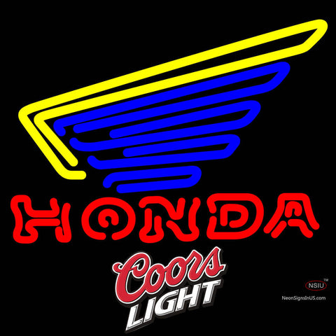 Coors Light Honda Motorcycles Gold Wing Neon Sign   x