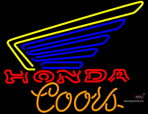 Coors Light Honda Motorcycles Gold Wing Neon Sign