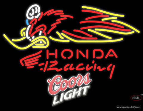 Coors Light Honda Racing Woody Woodpecker Crf   Neon sign