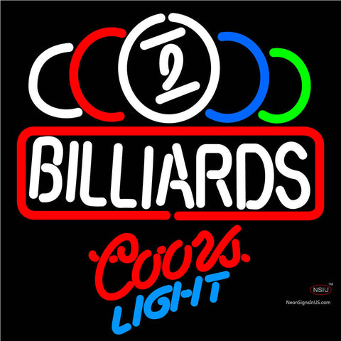 Coors Light Neon Ball Billiard Text Pool Neon Beer Sign   x