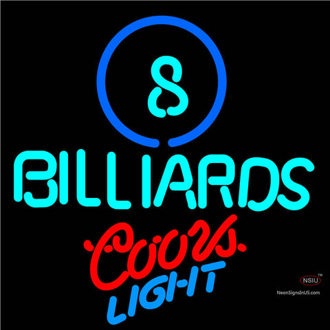 Coors Light Neon Ball Billiards Pool Neon Beer Sign   x