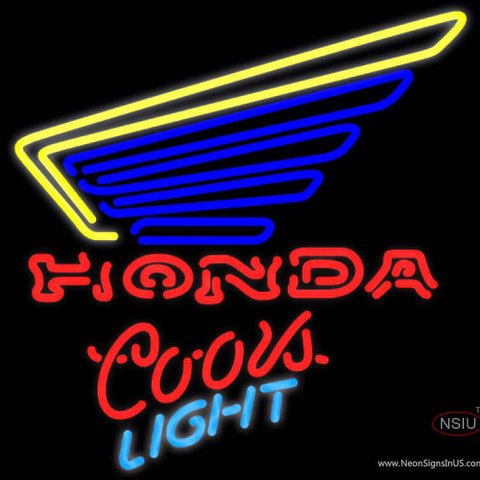 Coors Light Neon Honda Motorcycle Gold Wing Neon Sign
