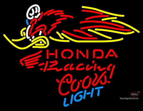 Coors Light Neon Honda Racing Woody Woodpecker Crf   Neon sign