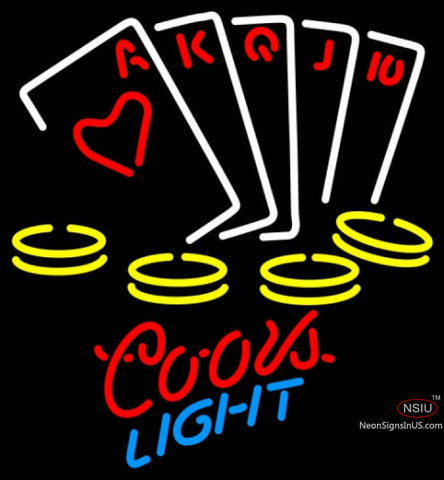 Coors Light Neon Poker Ace Series Neon Sign 7