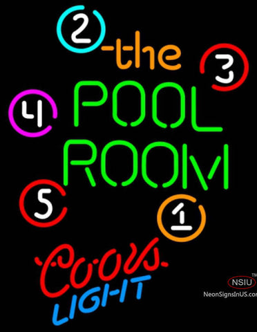 Coors Light Neon Pool Room Billiards Neon Beer Sign  7