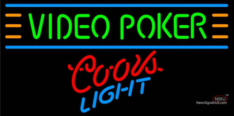 Coors Light Neon Video Poker Neon Sign 7 7