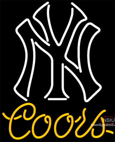 Coors Light New York Yankees MLB Neon Sign