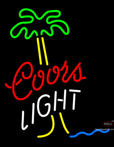 Coors Light Palm Tree Neon Beer Sign