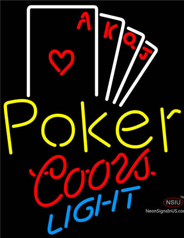 Coors Light Poker Ace Series Neon Sign