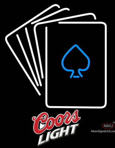 Coors Light Poker Cards Neon Sign 7