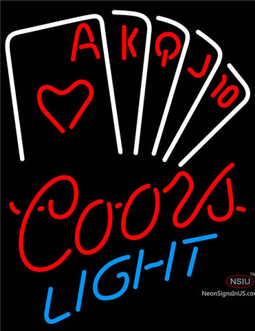 Coors Light Poker Series Neon Sign