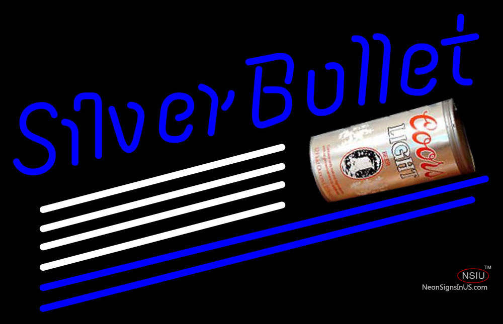 Coors Light Silver Bullet Can Neon Beer Sign – NeonSigns