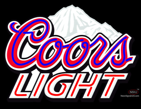 Coors Light Stacked Mountains Neon Beer Sign