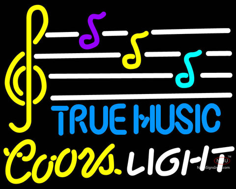 Coors Light True Music Neon Sign