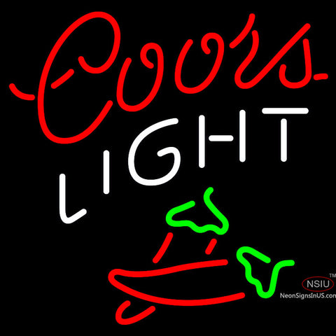 Coors Light Two Chili Pepper Neon Beer Sign x