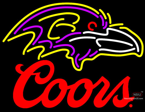 Coors Logo Baltimore Ravens NFL Neon Sign