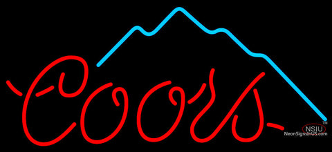 Coors Mountain Neon Beer Sign