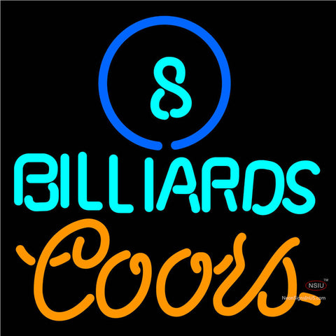 Coors Neon Ball Billiards Pool Neon Beer Sign   x