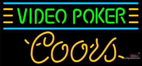 Coors Neon Video Poker Neon Sign 7
