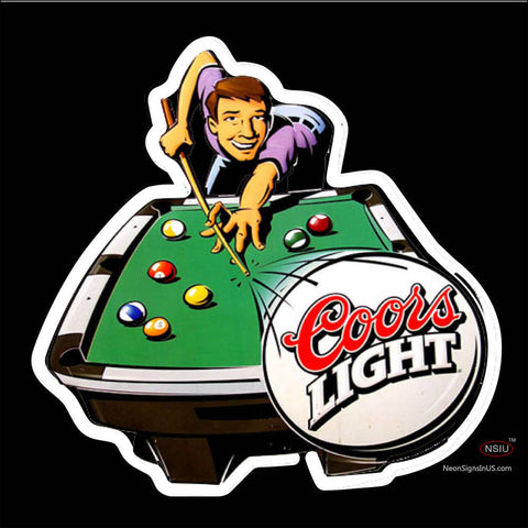 Coors Pool Time Billiards Neon Beer Sign x