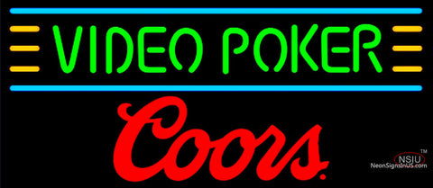 Coors Video Poker Neon Sign 7
