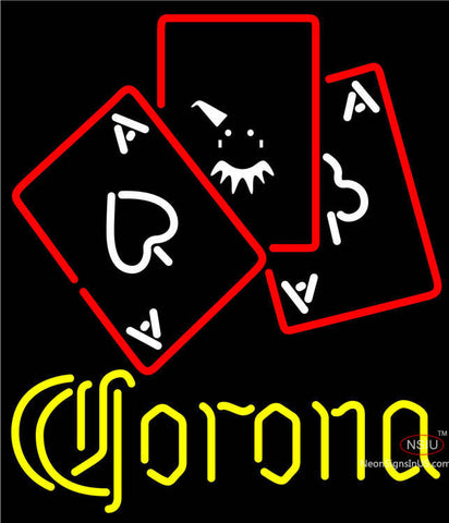 Corona Ace And Poker Neon Sign