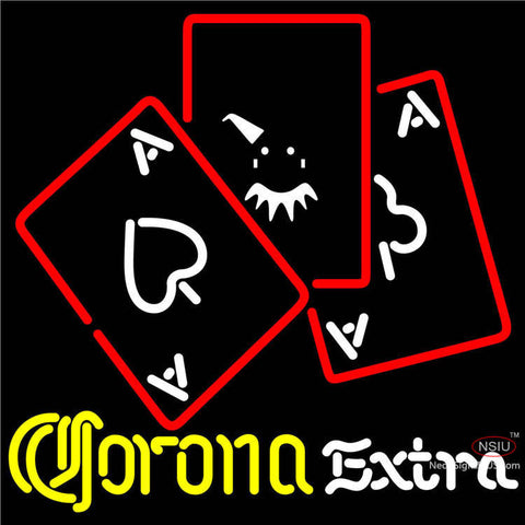 Corona Extra Ace And Poker Neon Sign