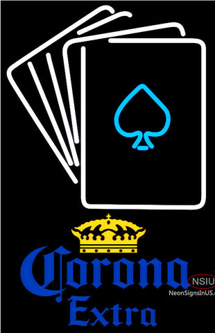 Corona Extra Cards Neon Sign