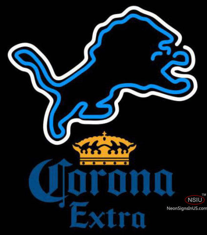 Corona Extra Detroit Lions NFL Neon Sign
