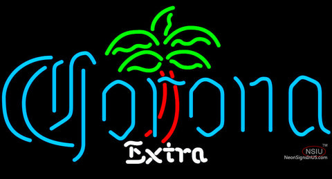 Corona Extra Dominator Palm Tree Neon Beer Sign