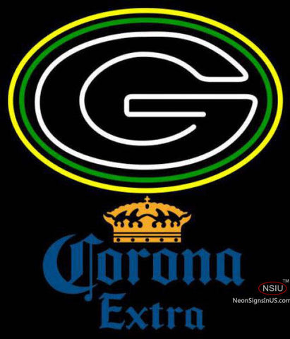 Corona Extra Green Bay Packers NFL Neon Sign