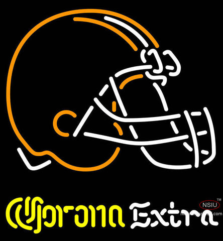 Corona Extra Neon Logo Cleveland Browns NFL Neon Sign